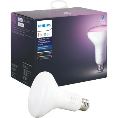 Philips Hue White & Color Ambiance 60W Equivalent BR30 Medium Base LED Floodlight Light Bulb