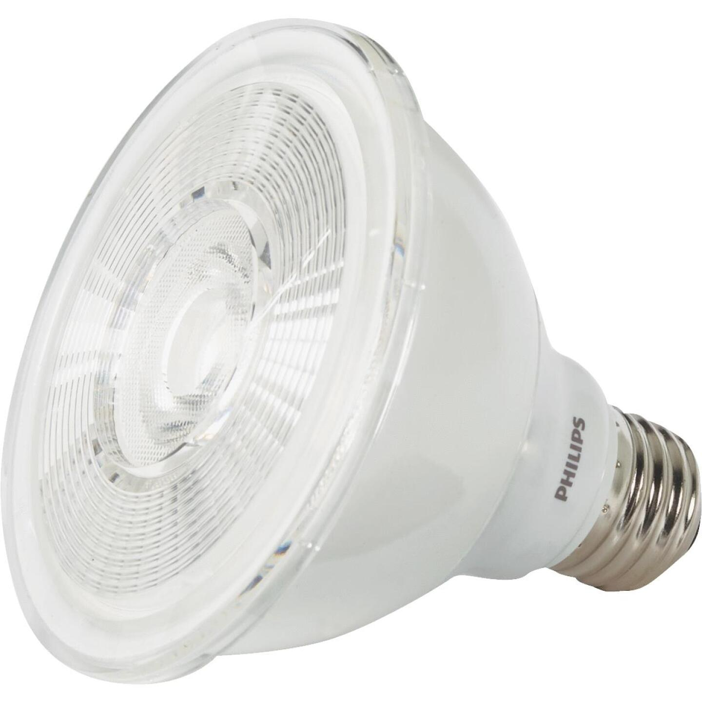 Philips 75W Equivalent Bright White PAR30 Short Neck Medium Dimmable LED Floodlight Light Bulb with 25 Deg. Beam Image 3