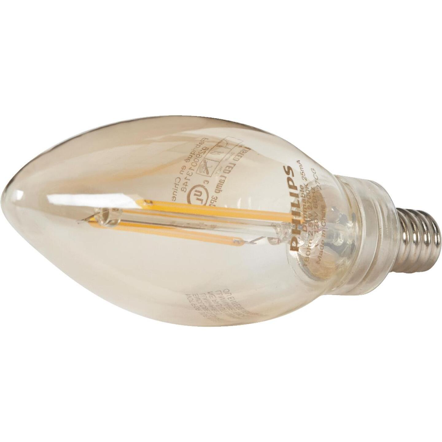 Philips Vintage Edison 25W Equivalent Soft White B11 Candelabra LED Decorative Light Bulb (3-Pack) Image 3