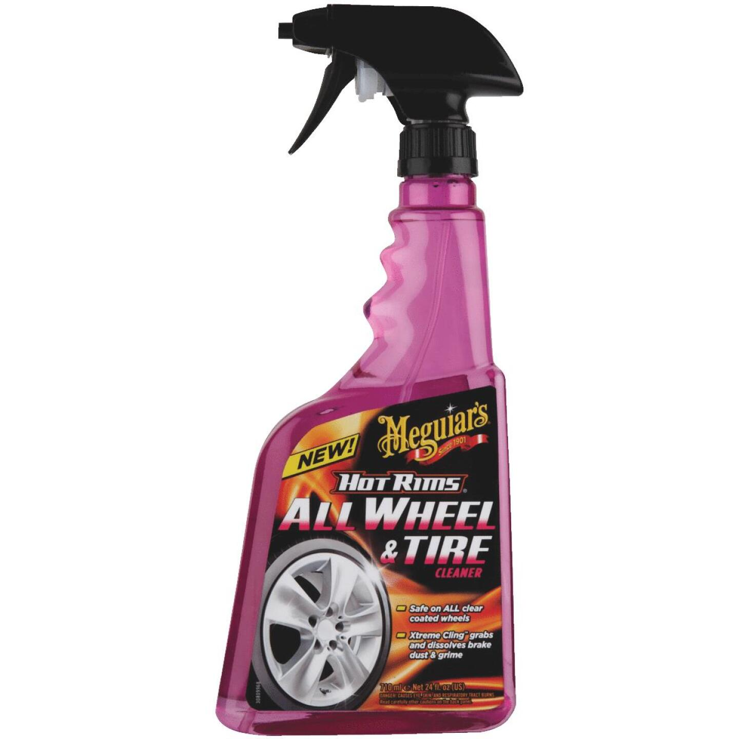 Meguiars Hot Rims 24 oz Trigger Spray Wheel Cleaner Image 2