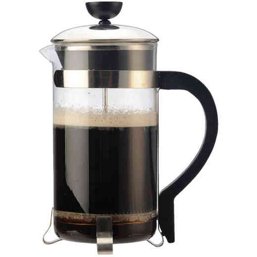 Primula 8 Cup Chrome Coffee Press Manual Coffee Maker
