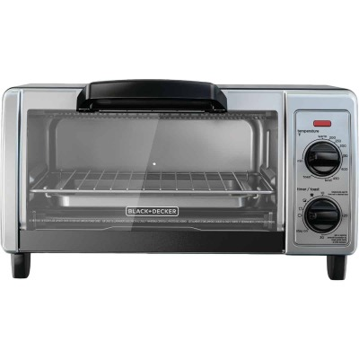 Black & Decker 4-Slice Stainless Steel Toaster Oven