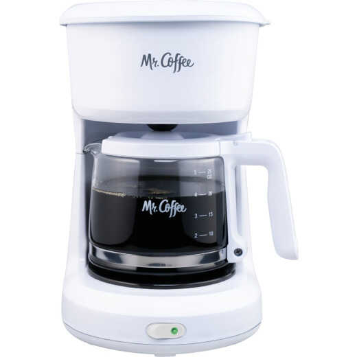 Mr. Coffee 5-Cup White Switch Coffee Maker