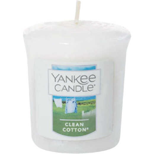Yankee Candle 1.75 Oz. Clean Cotton Votive Candle