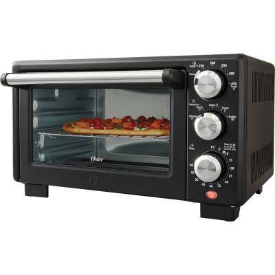 Oster 4-Slice Matte Black Compact Toaster Oven