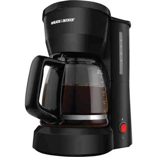 Black & Decker 5 Cup Black Coffee Maker