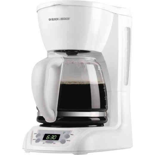 Black & Decker 12 Cup Programmable White Coffee Maker
