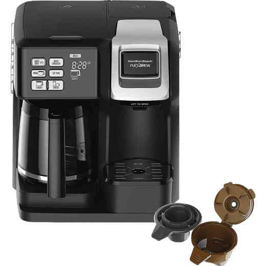 Hamilton Beach FlexBrew Black 12 Cup 2-Way Coffee Brewer