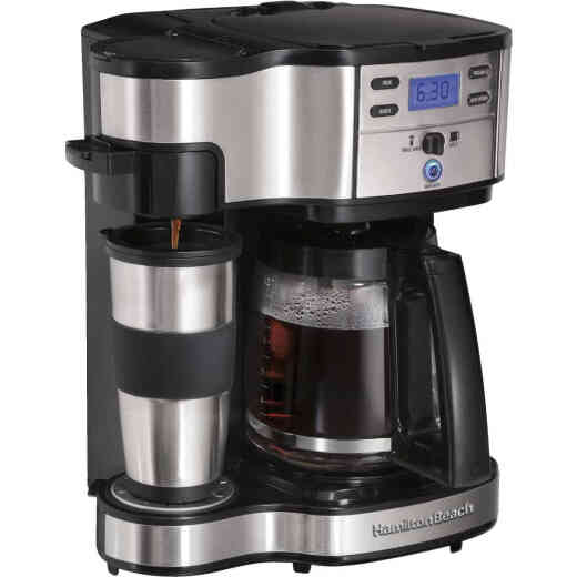 Hamilton Beach The Scoop Black 12 Cup 2-Way Coffee Brewer