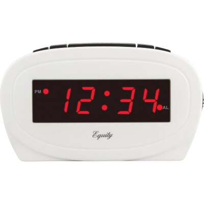 La Crosse Technology Equity White Electric Alarm Clock