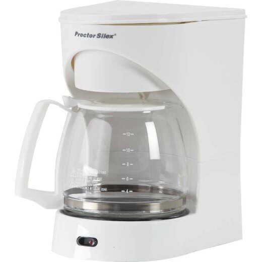 Proctor-Silex 12 Cup White Coffee Maker