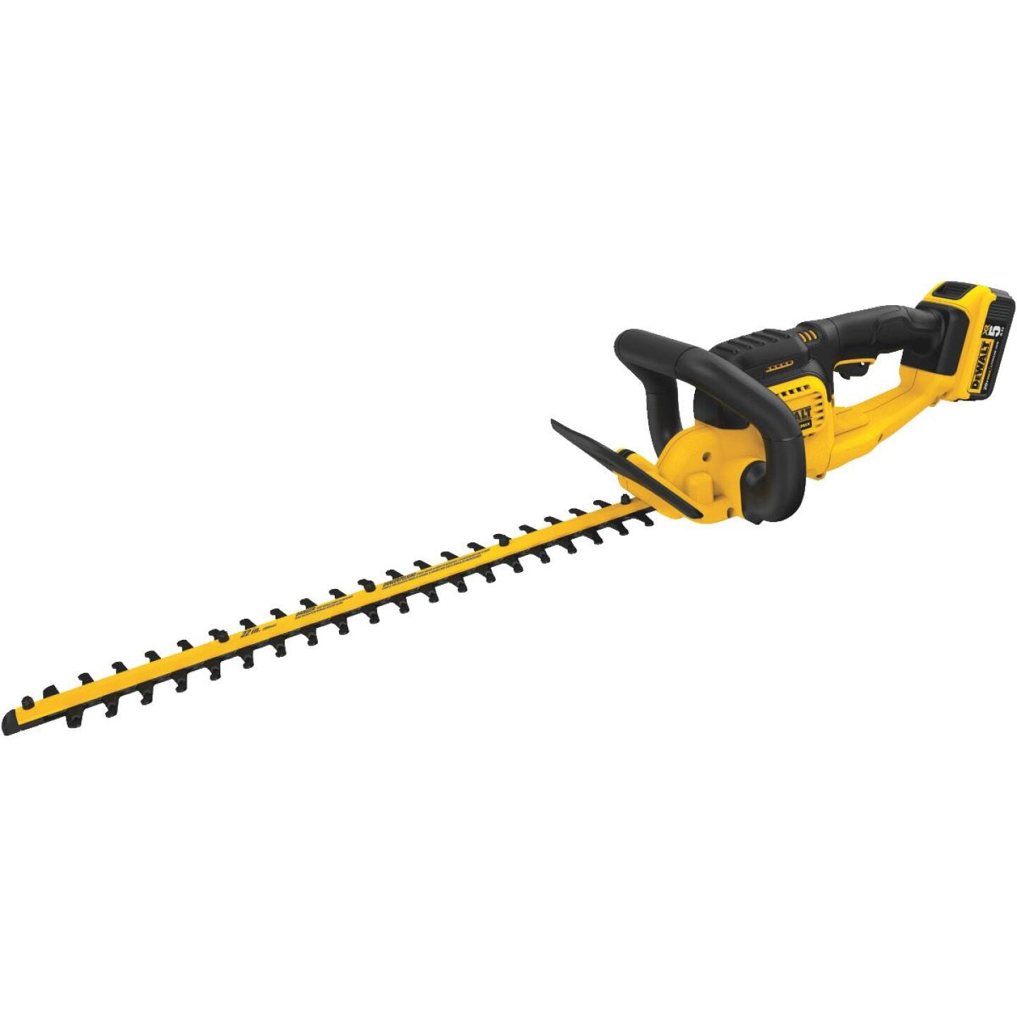 DeWalt 22 In. 20V Lithium Ion Cordless Hedge Trimmer Image 1
