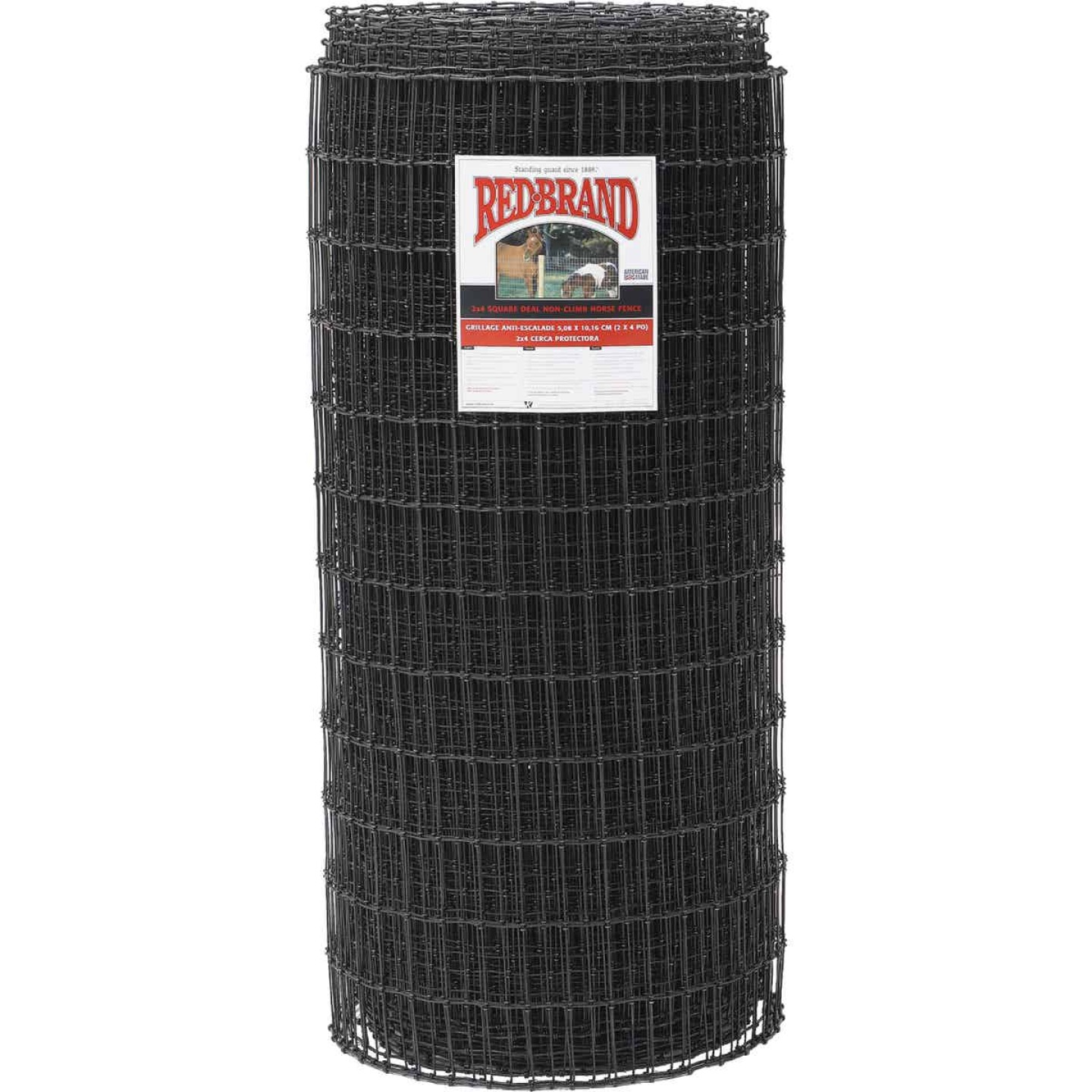 Keystone Red Brand 48 In. H. x 100 Ft. L. Black Painted Galvanized Steel Class 1 Square Deal Non-Climb Horse Fence Image 1