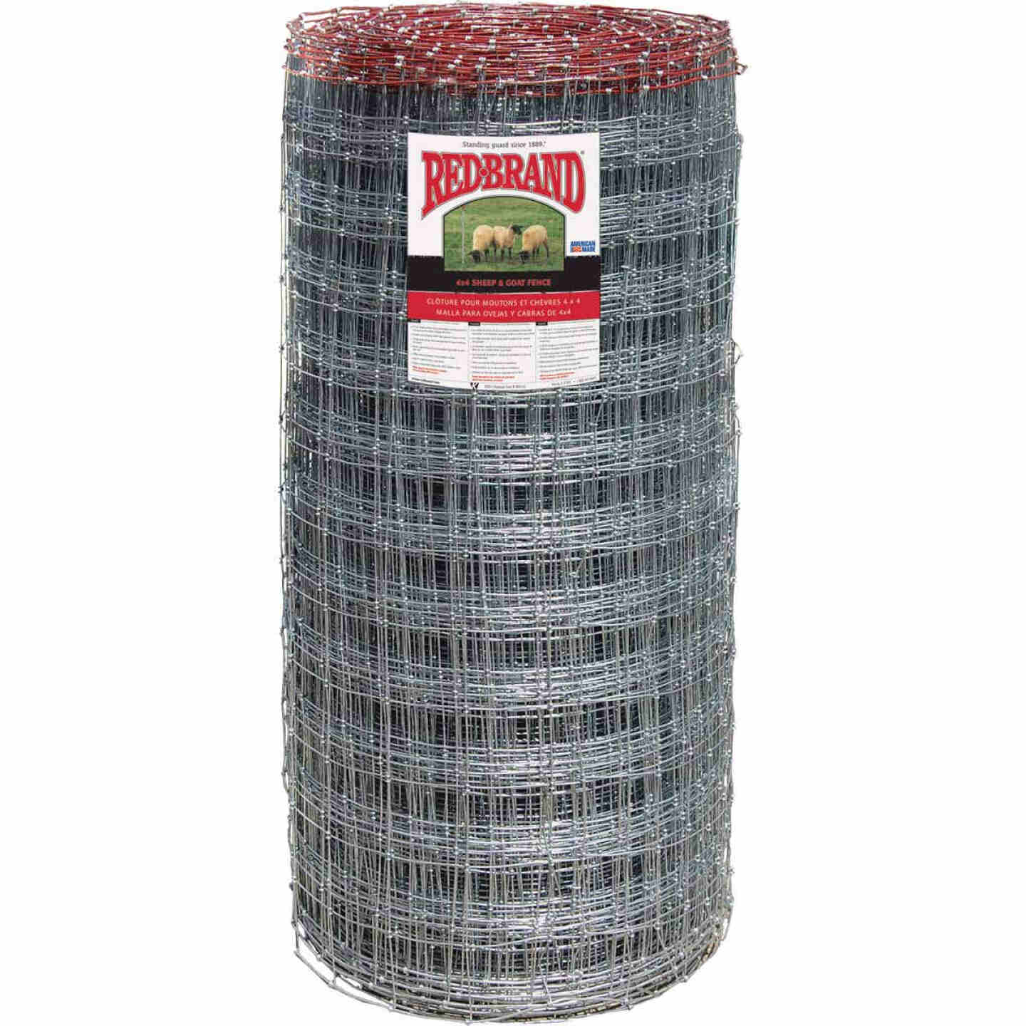 Keystone Red Brand Square Deal Knot 48 In. H. x 330 Ft. L. Galvanized Steel Sheep & Goat Fence Image 1