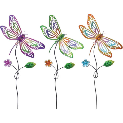 Alpine 24 In. H. Metal Dragonfly Garden Stake Lawn Ornament