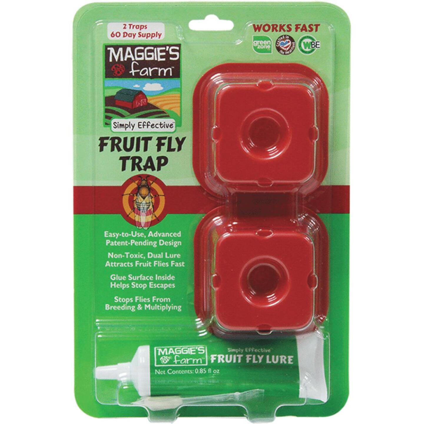 Maggie's Farm Indoor Fruit Fly Trap (2-Pack) Image 1