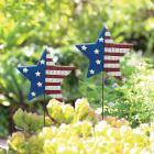 Alpine 24 In. Metal American Flag Garden Stake Lawn Ornament Image 2