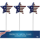 Alpine 24 In. Metal American Flag Garden Stake Lawn Ornament Image 3