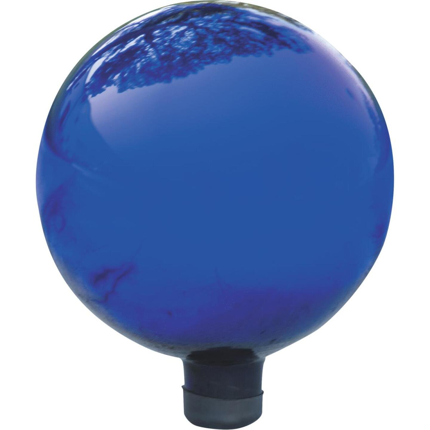 Alpine 10 In. Dia. Electric Blue Glass Gazing Globe Lawn Ornament Image 1