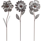 Alpine 49 In. H. Metal Flower Garden Stake Lawn Ornament Image 1