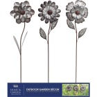 Alpine 49 In. H. Metal Flower Garden Stake Lawn Ornament Image 2