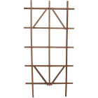 Panacea 48 In. Brown Wood Ladder Trellis Image 1