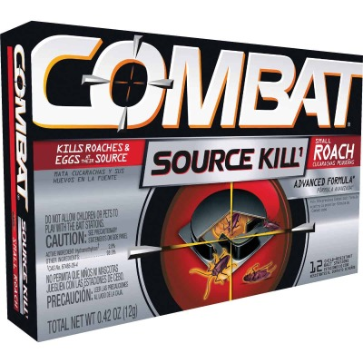Combat Source Kill 0.42 Oz. Solid Small Roach Bait Station (12-Pack)