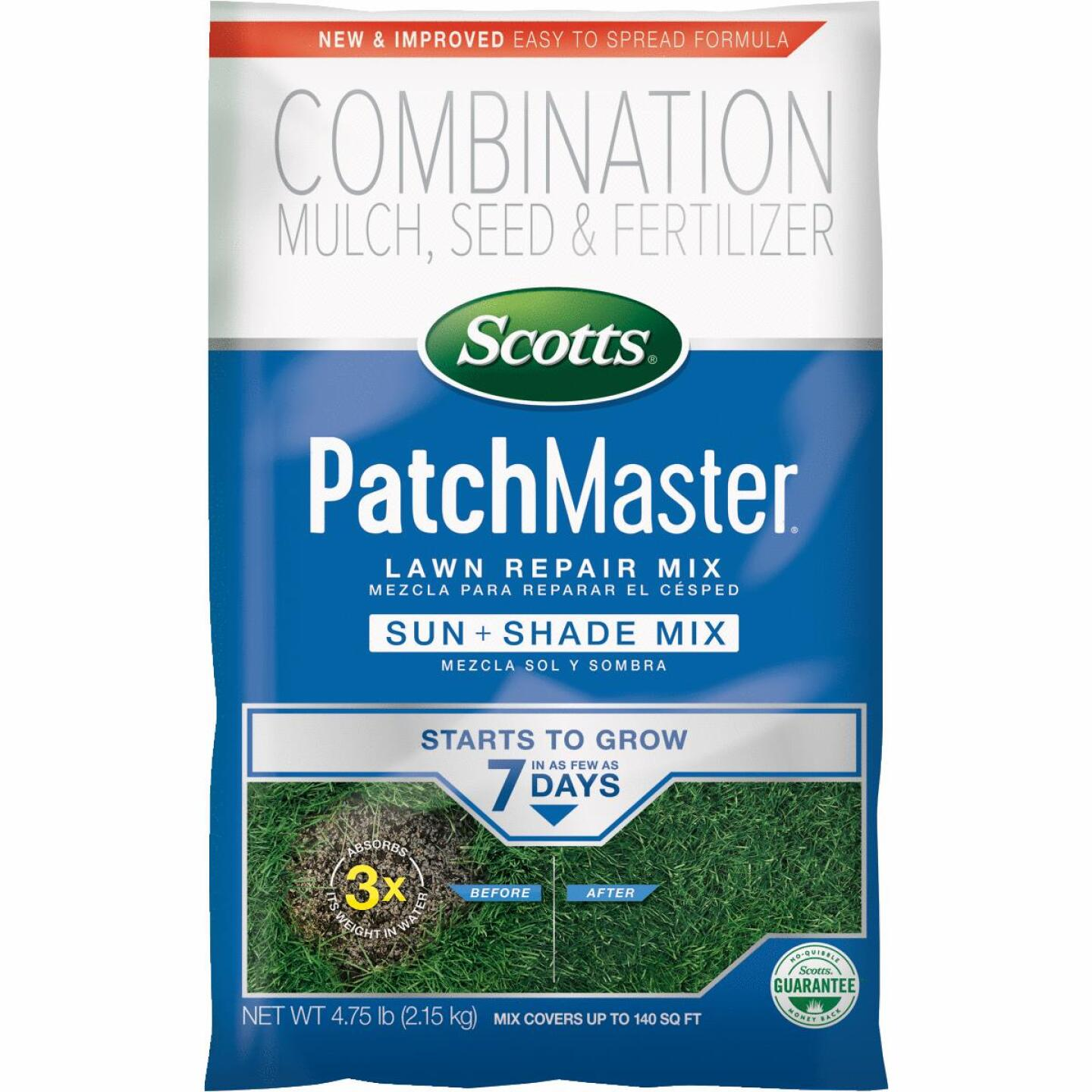 Scotts PatchMaster 4.75 Lb. 115 Sq. Ft. Coverage Sun & Shade Grass Patch & Repair Image 1