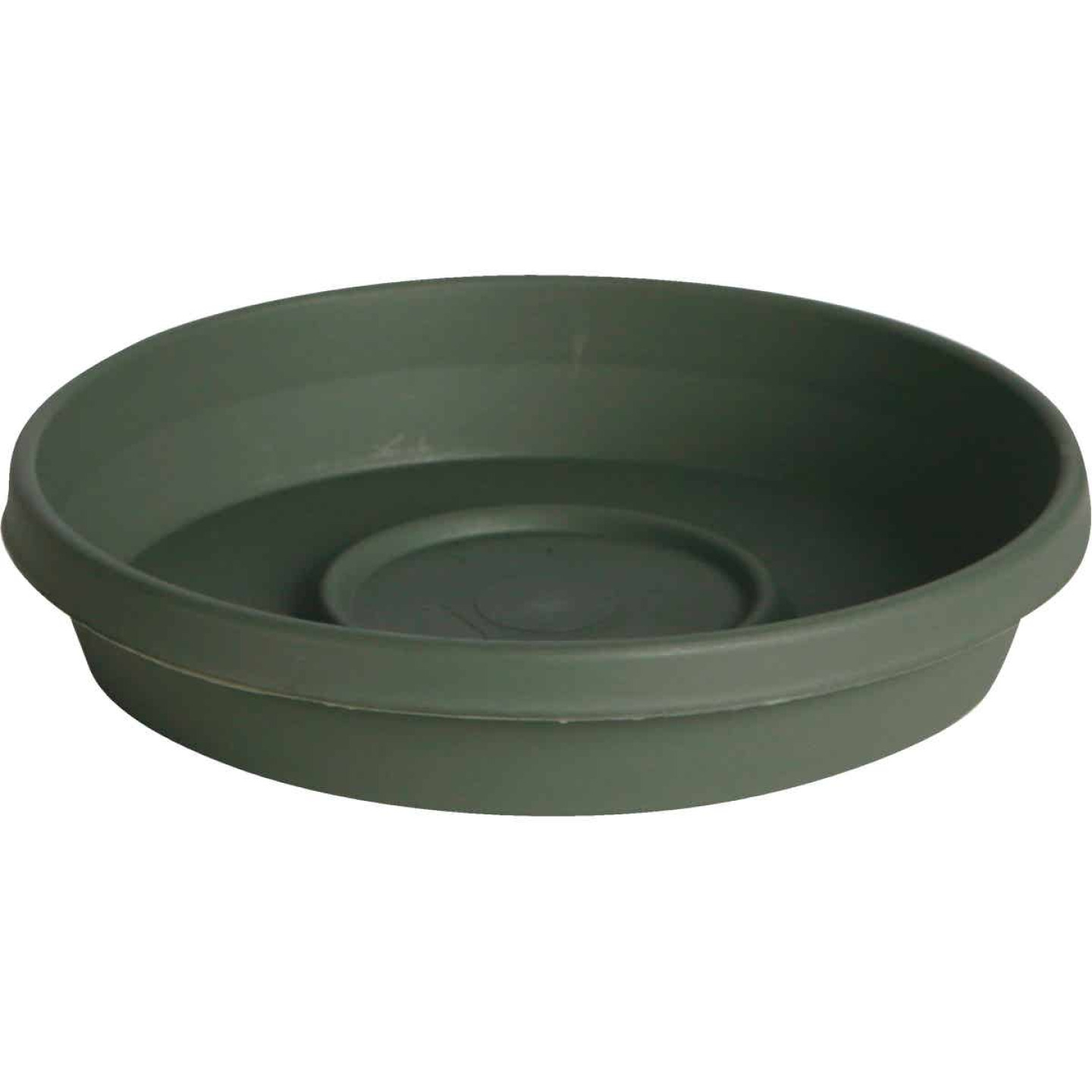 Bloem Terra Living Green 12 In. Plastic Flower Pot Saucer Image 1