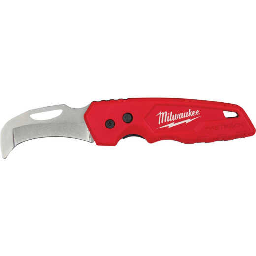 Milwaukee FASTBACK Blunt Tip Hawkbill 2.45 In. Folding Knife