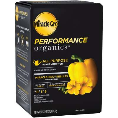Miracle-Gro Performance Organics 1 Lb. 11-3-8 Dry Plant Food