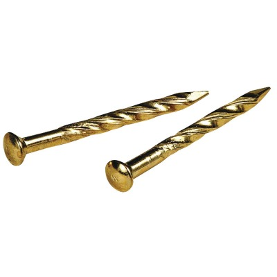 Hillman Anchor Wire 7/8 In. 13 ga Brass Plated Trim Nails (29 Ct., 1 Oz.)
