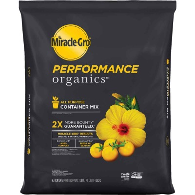 Miracle-Gro Performance Organics 1 Cu. Ft. 26 Lb. All Purpose Container Potting Soil