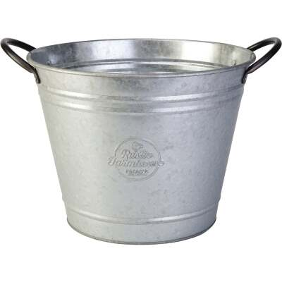 Panacea 10 In. Galvanized Steel Washtub Planter