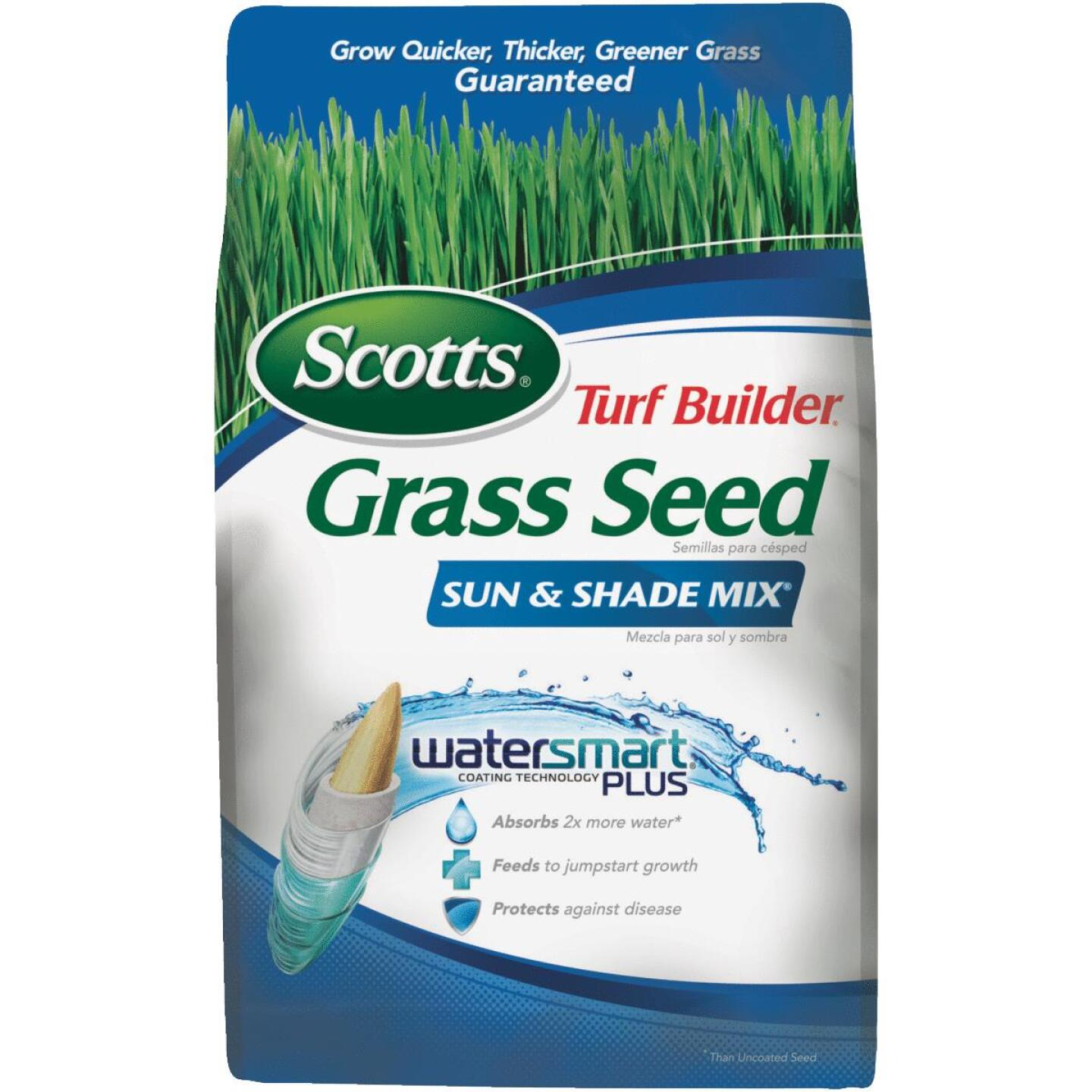 Scotts Turf Builder 3 Lb. Up To 1200 Sq. Ft. Coverage Sun & Shade Grass Seed Image 1