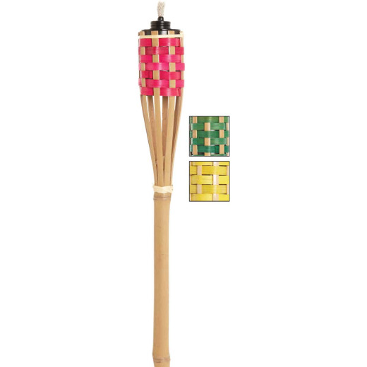 Outdoor Expressions 4 Ft. Assorted Color Bamboo Party Patio Torch