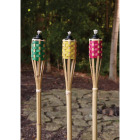 Outdoor Expressions 4 Ft. Assorted Color Bamboo Party Patio Torch Image 3