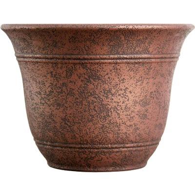 Listo Sierra 9.63 In. H. x 13 In. Dia. Rustic Redstone Poly Flower Pot