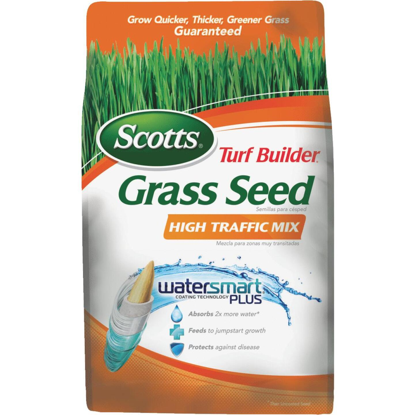 Scotts Turf Builder 7 Lb. Up To 3500 Sq. Ft. Coverage High Traffic Grass Seed Image 1