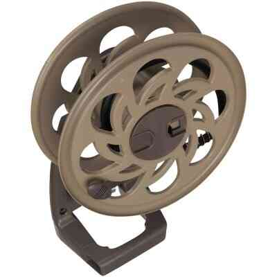 Suncast Sidetracker 125 Ft. x 5/8 In. Taupe Resin Hose Reel