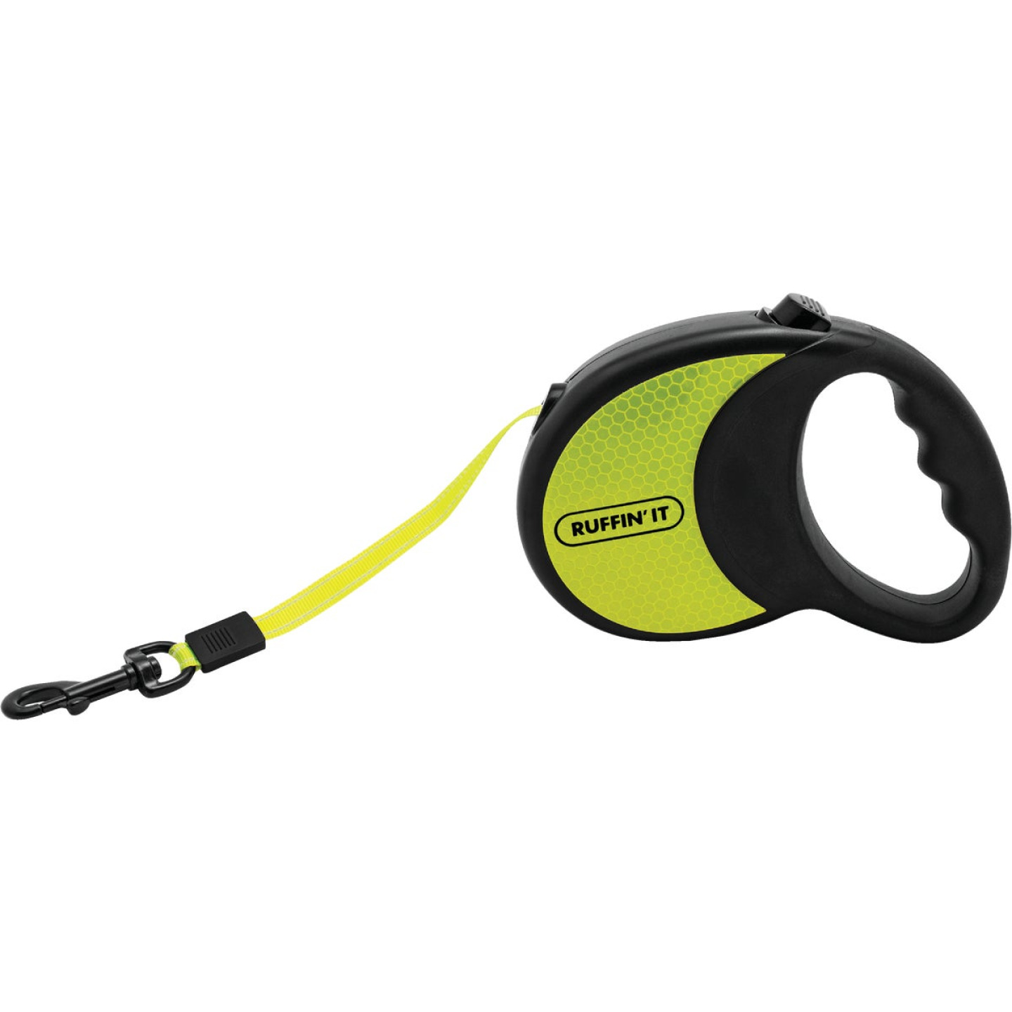 Westminster Pet Ruffin' it 10 Ft. Webbed Reflective Neon Yellow Up to 50 Lb. Dog Retractable Leash Image 1