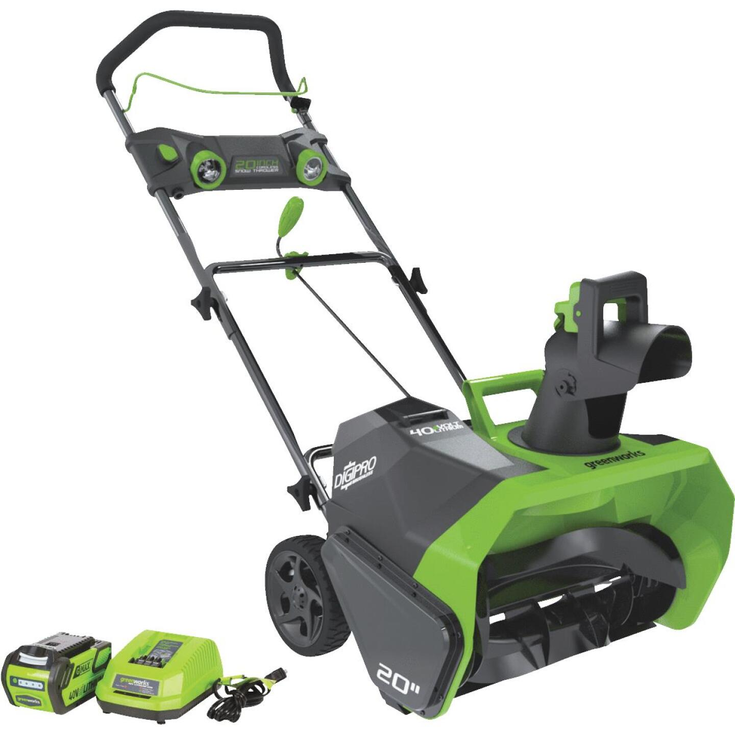 Greenworks DigiPro G-MAX 20 In. 40V Cordless Snow Blower Image 1