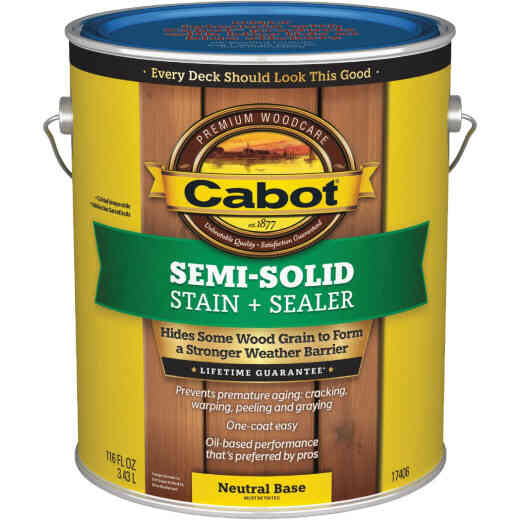 Cabot VOC Semi-Solid Deck & Siding Stain, Neutral Base, 1 Gal.