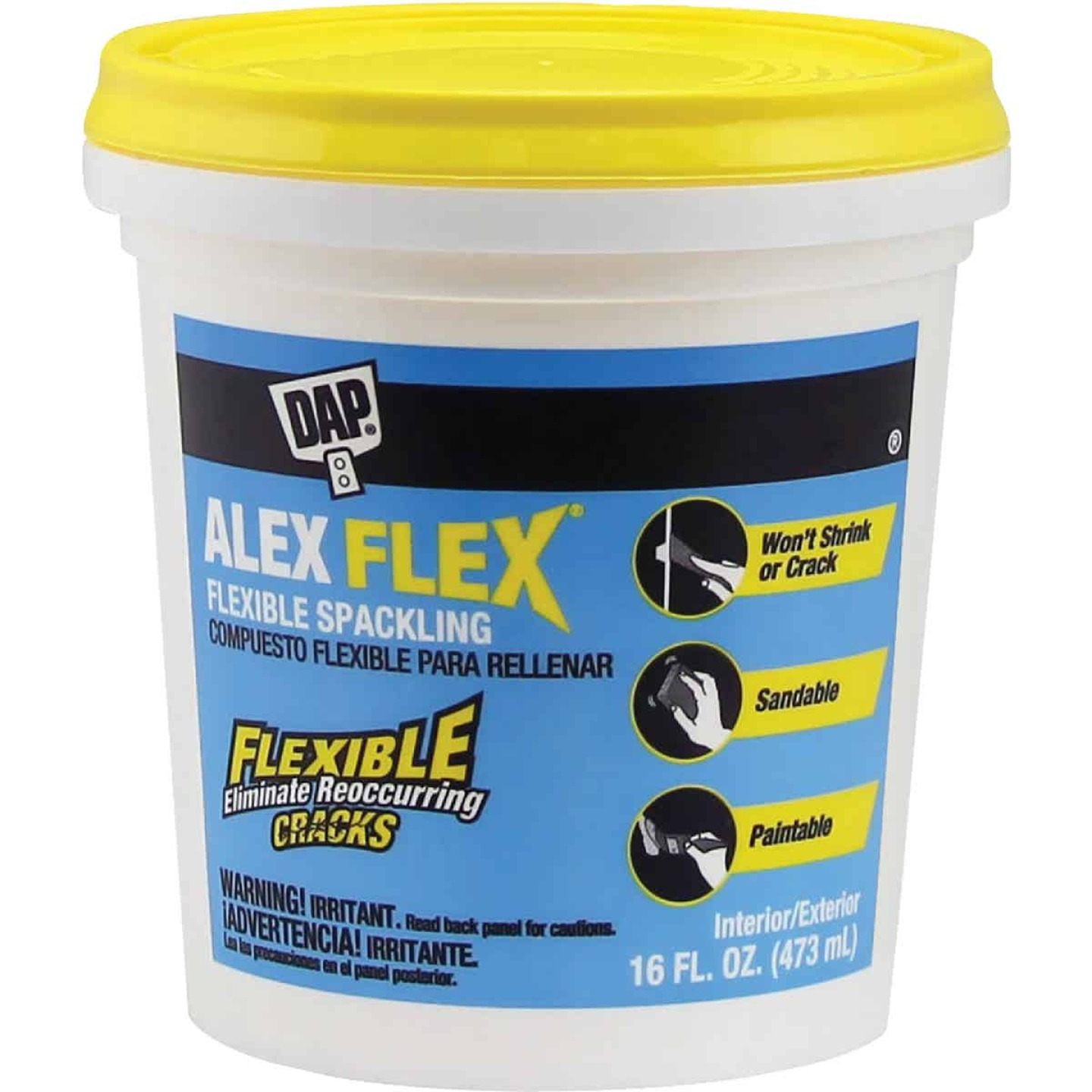 Dap Alex Flex 16 Oz. Heavy-Duty Acrylic Spackling Image 1
