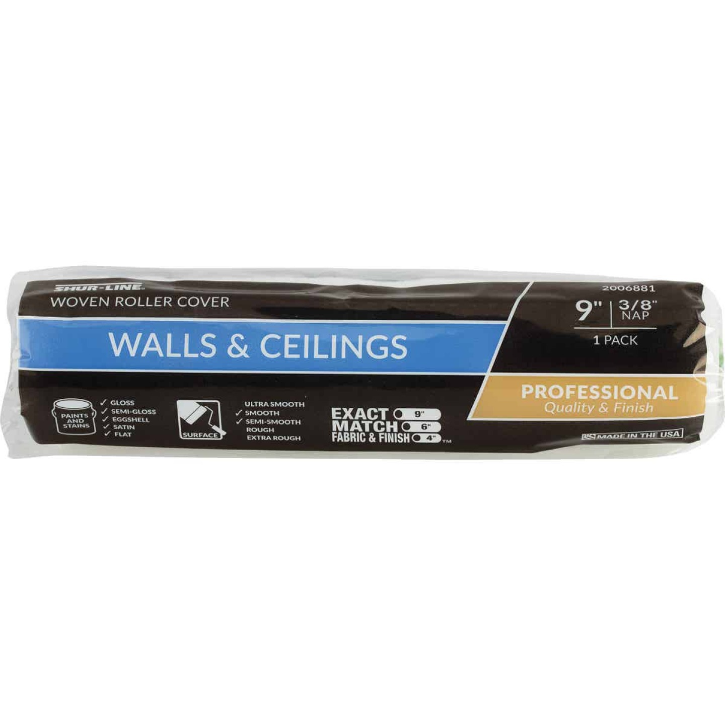 Shur-Line 9 In. x 3/8 In. Walls & Ceilings Woven Fabric Roller Cover Image 1