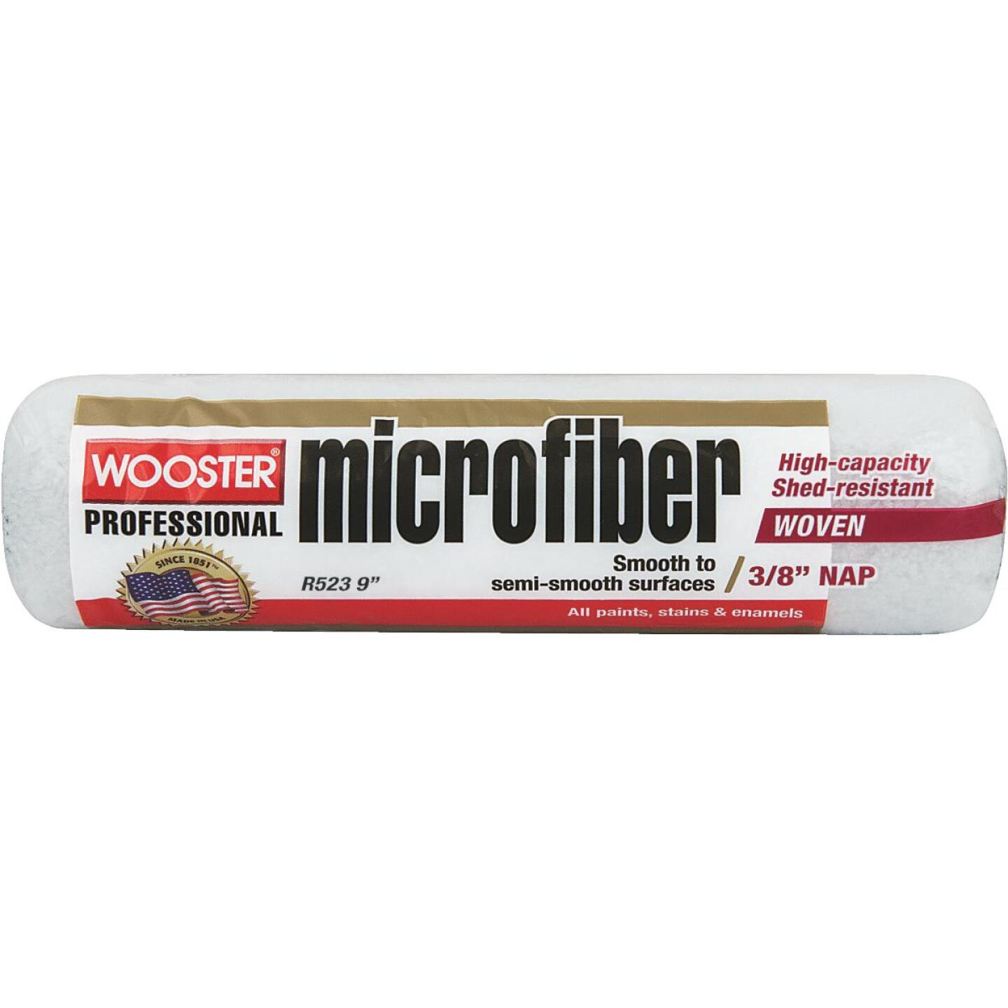 Wooster 9 In. x 3/8 In. Microfiber Roller Cover Image 1