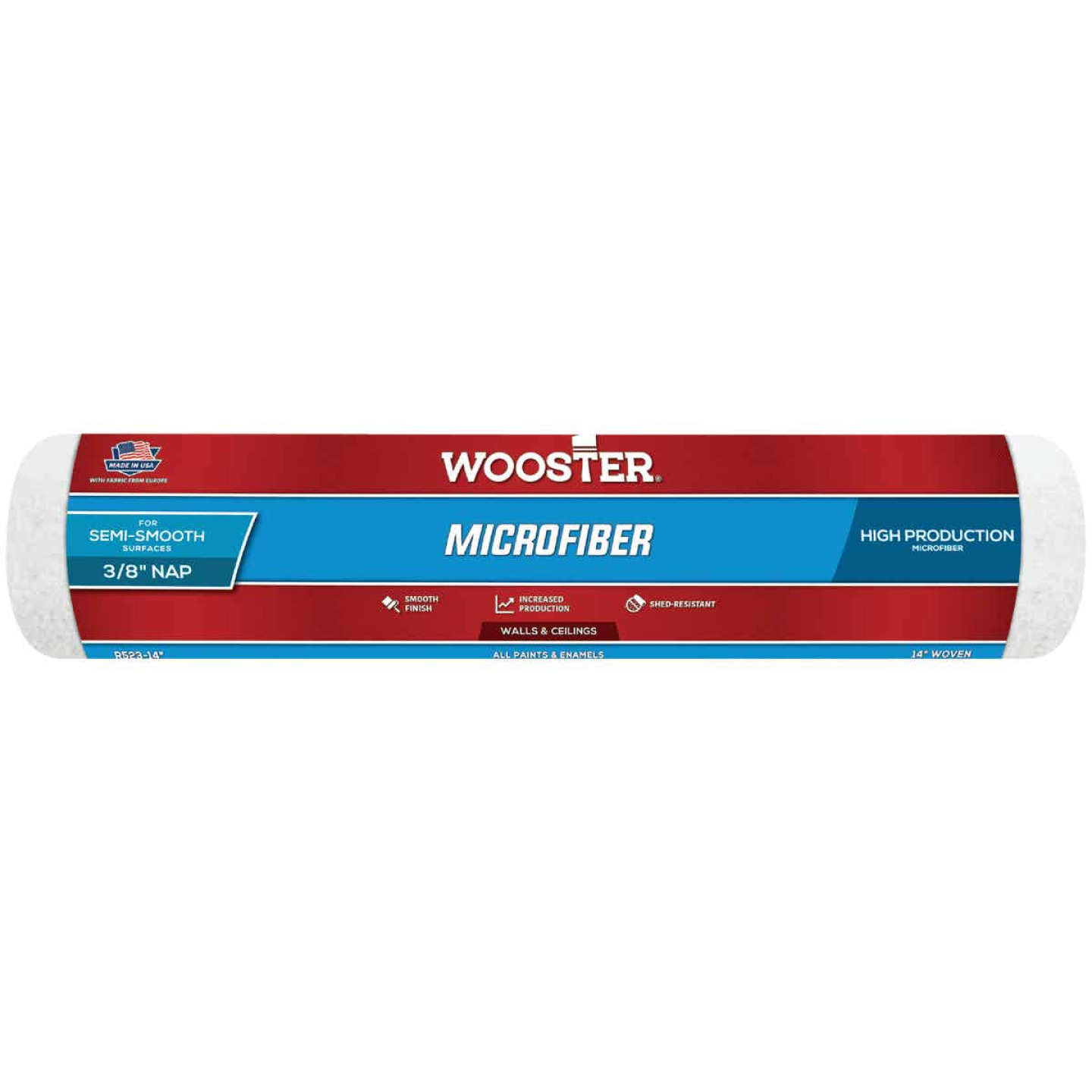 Wooster 14 In. x 3/8 In. Microfiber Roller Cover Image 1