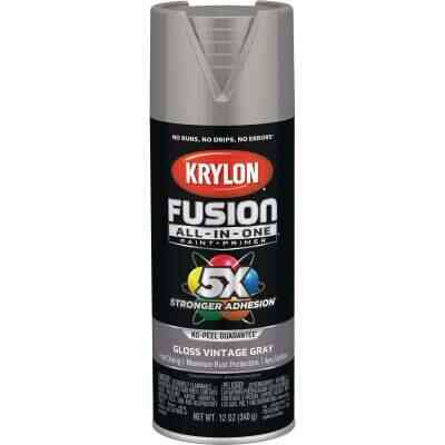 Krylon Fusion All-In-One Gloss Spray Paint & Primer, Vintage Gray