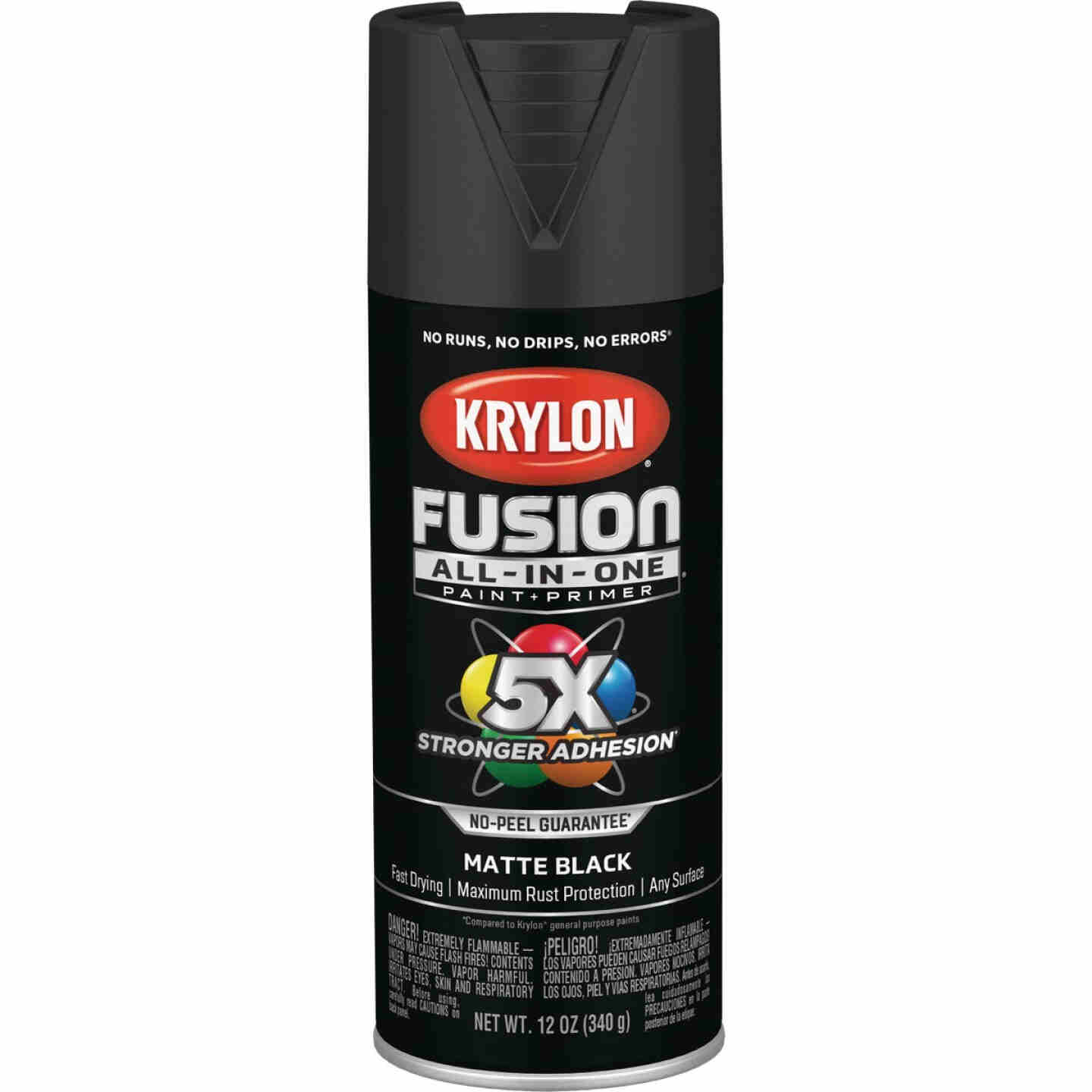 Krylon Fusion All-In-One Matte Spray Paint & Primer, Black Image 1