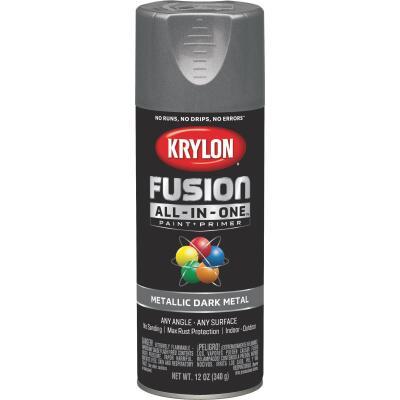Krylon Fusion All-In-One Metallic Spray Paint & Primer, Dark Metal